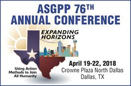 76th Annual ASGPP Conference <h5>Dallas, TX</h5> @ Crowne Plaza