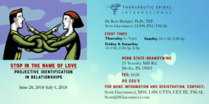 Stop In The Name Of Love:  Projective Identification In Relationships<h5>West Chester, PA</h5> @ Temenos Retreat Center