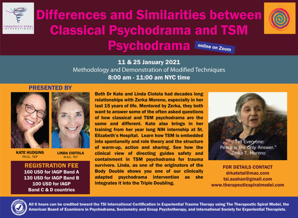 Similarities & Differences between TSM Psychodrama and Classical Psychodrama