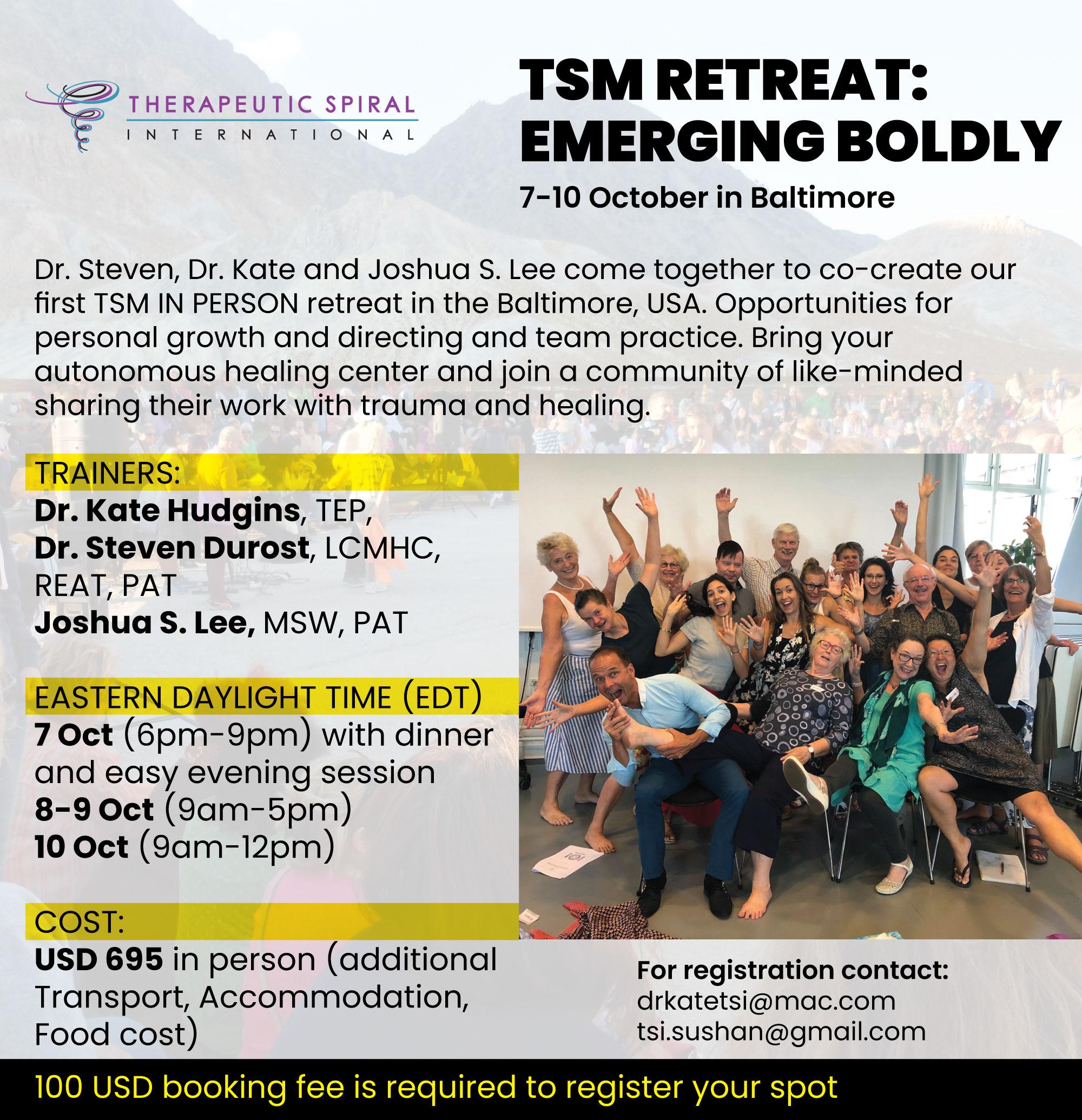 TSM Retreat: Emerging Boldly @ Baltimore, USA
