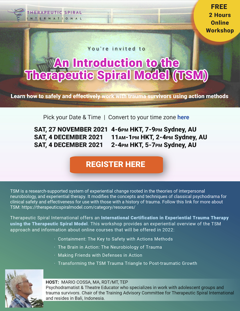 An Introduction to the Therapeutic Spiral Model (TSM)